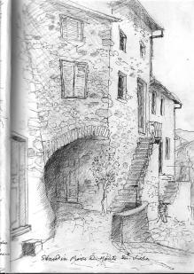 Street Pieve di Monte di Villa